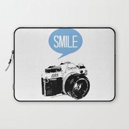 Vintage Canon Camera, Smile Laptop Sleeve
