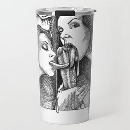 mature/adultillustration/pornart/porn/art/blowjob/felatio/threesome/cock Travel Mug