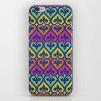 fleur de lis iPhone & iPod Skins featuring Fleur De lis & Hearts by Arcturus