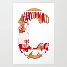 C as Charcutière (Pork butcher) Art Print