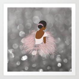 African American Ballerina Dancer Art Print
