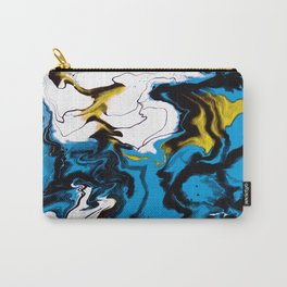 Dreamscape 01 in Blue, White & Gold Carry-All Pouch