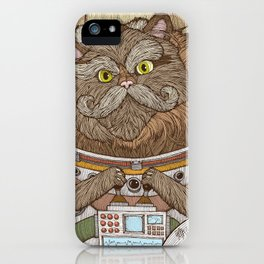 Commander Whiskers iPhone Case