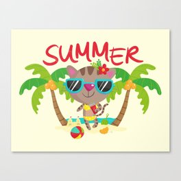 Hello, summer Canvas Print