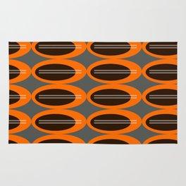 Retro Ovals Print Rug