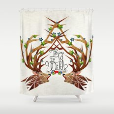 deer into the wild Shower Curtain