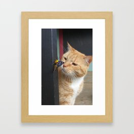 Max and Butterfly Framed Art Print