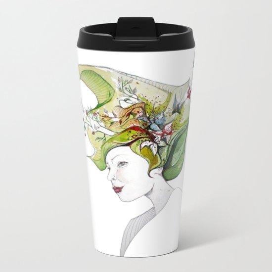 spring lady Metal Travel Mug