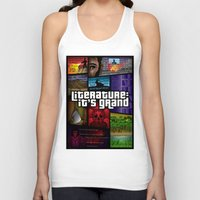 literature Tank Tops featuring Grand Theft Literature by Mitul Mistry