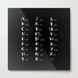 Phonetics Metal Print
