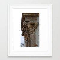 atlas Framed Art Prints featuring Atlas by Chema G. Baena Art