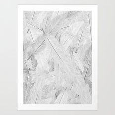 Feathered (Pattern). Art Print