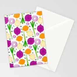 Onions Make You Cry by Keyton Design Stationery Cards