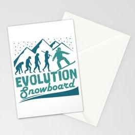 Evolution Snowboard Stationery Cards