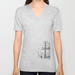 view from train Unisex V-Neck