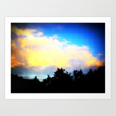 Digital Sky Art Print