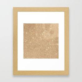 Gold Glitter Chic Glamorous Sparkles Framed Art Print