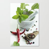 spice Canvas Prints featuring Hot Spice by Tanja Riedel