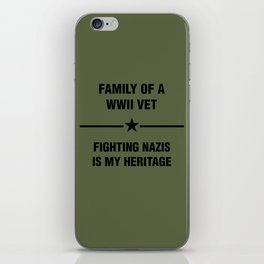 WWII Family Heritage iPhone Skin