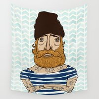 sailor Wall Tapestries featuring Sailor by afzucatti