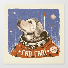 Soviet Space Dog Canvas Print