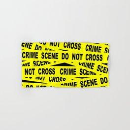 Crime Scene Tape Hand & Bath Towel