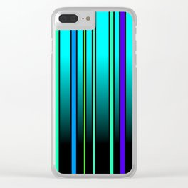 Fresh Blue Clear iPhone Case