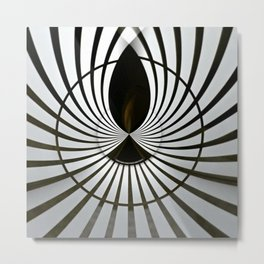 Geometric Art - B.W. Metal Print