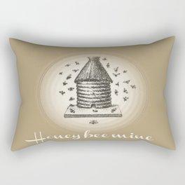 Honey Bee Mine {teddy bear brown} Rectangular Pillow