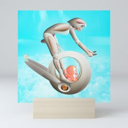 Time Barney girl and horny Robo Mini Art Print