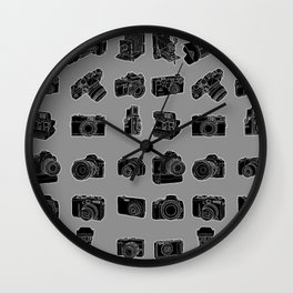 Cameras and Film Wall Clock