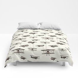Retro airplanes Comforters
