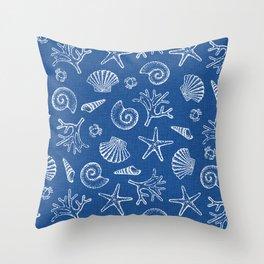 Lovely life on beach Throw Pillow