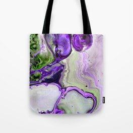 Colorful Purple Fluid Acrylic Pour Art - Digital Art Tote Bag