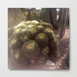 Moroccan cactus Metal Print