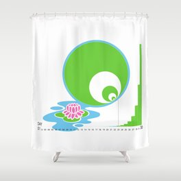 Exponential Growth Lily Pond - version 2 Shower Curtain