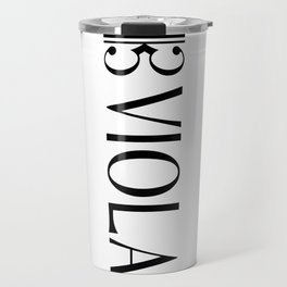 Viola with Alto Clef Travel Mug