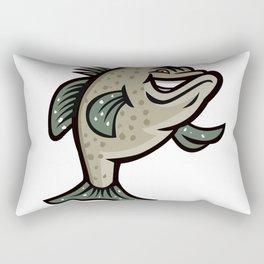 Crappie Fish Standing Mascot Rectangular Pillow