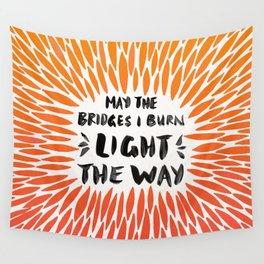 Bridges Burned – Fiery Palette Wall Tapestry