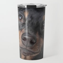 Drawing Dog breed dachshund Travel Mug