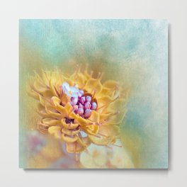 VARIE SQUARE - Floral and painterly texture work Metal Print