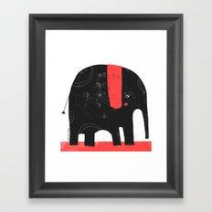 BLACK ELEPHANT Framed Art Print