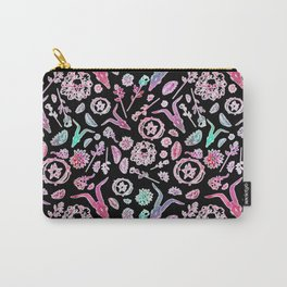 Creepy Cute Floral Occult Print Carry-All Pouch