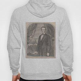 Vintage Abraham Lincoln Illustrative Portrait (1860) Hoody