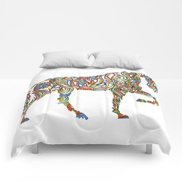 Abstract Horse Art Picture Comforters