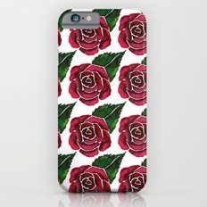 Red Roses Pattern iPhone 6s Slim Case