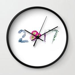 2017 Floral Wall Clock