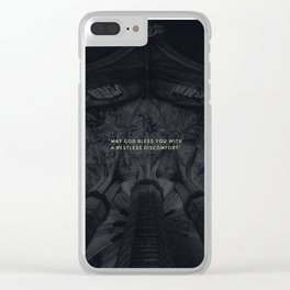 A RESTLESS DISCOMFORT Clear iPhone Case