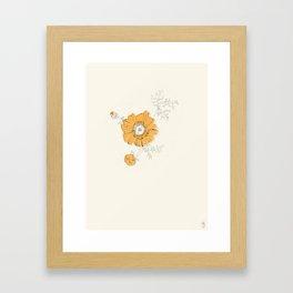 Orange Eden Framed Art Print