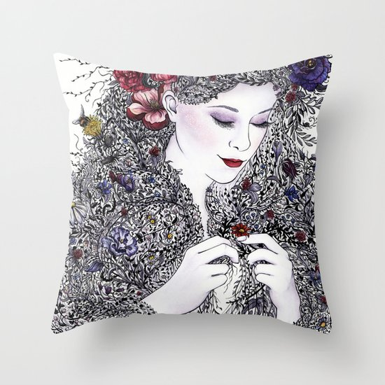 Fairest Flora Throw Pillow